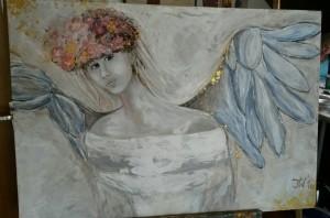 Engelmädchen - ein Dankeschön an (Atelier) Ina Schilling für die tolle Hilfe beim wunderhübschen Gesicht :-)