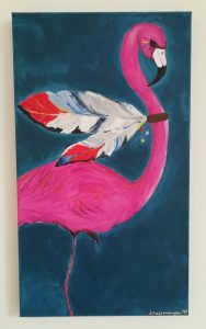 """Indian Flamingo"" (40x70)"